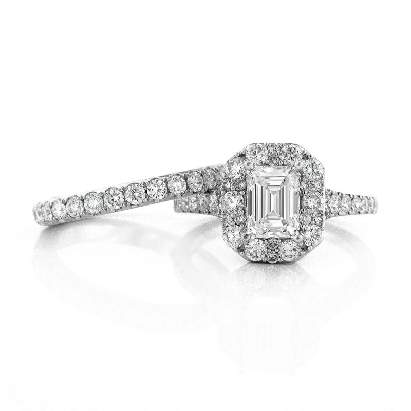 White Gold Diamond Wedding Ring Set