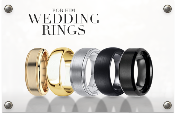 mens wedding rings in a group